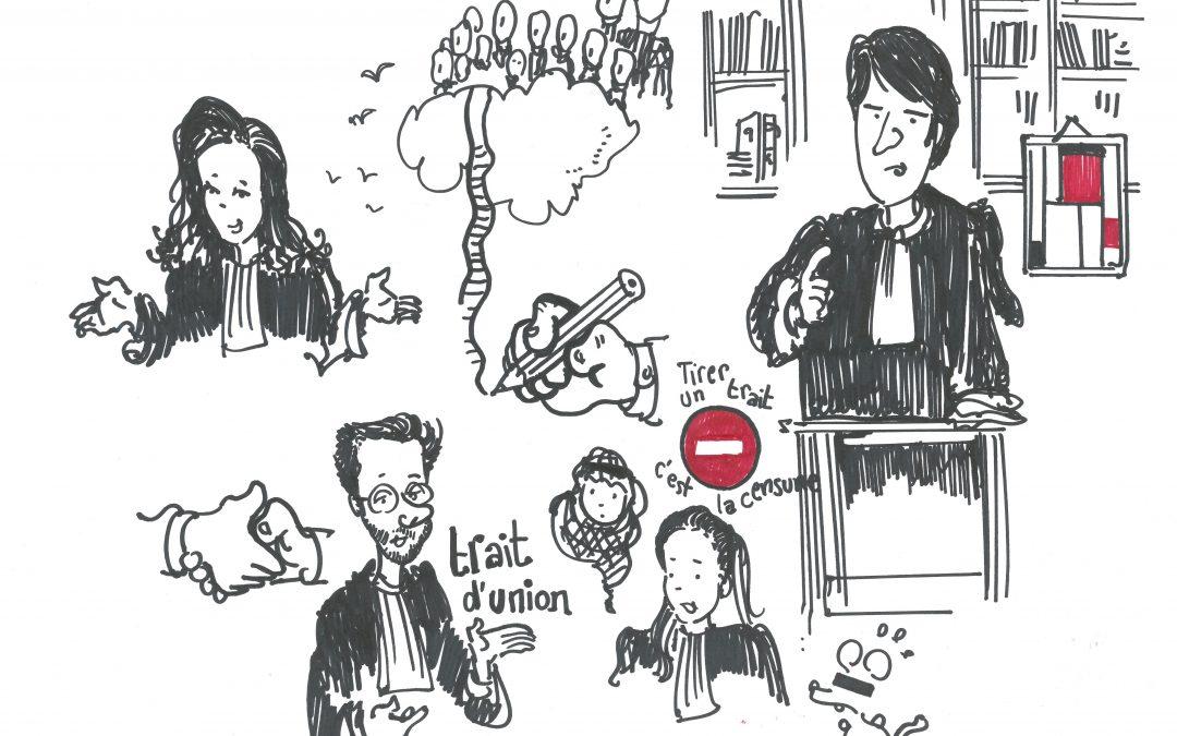 Me Montenot par le dessinateur de presse Plantu